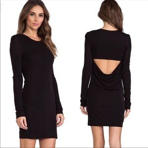 T ALEXANDER WANG Long Sleeve Back Cowl Mini Dress